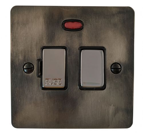 G&H FSL327 Flat Plate Slate 1 Gang Fused Spur 13A Switched & Neon